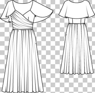 Gown Burda Style Dress Fashion Pattern PNG