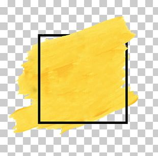 Watercolor Painting Yellow PNG