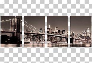 Brooklyn Bridge Paper Painting Wall Decal PNG
