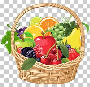 Fruit Gift Basket PNG