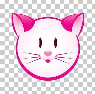 Pink Cat Kitten PNG