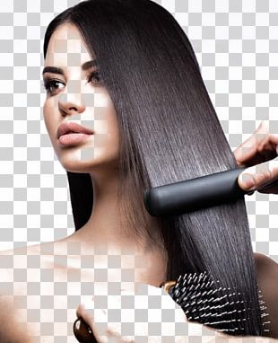 Hair Iron Hair Straightening Beauty Parlour Hair Care PNG