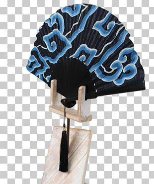 Hand Painted Batik Indonesia Blue Silk PNG
