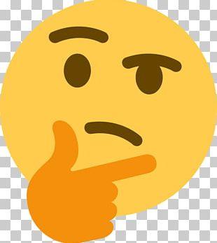 Thinking Emoji Sticker Thought Discord PNG
