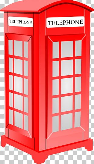 London Telephone Booth Red Telephone Box PNG