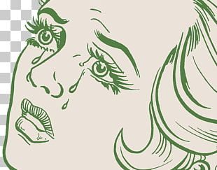 Crying Woman Illustration PNG