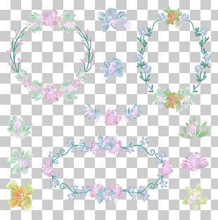 Flower Wreath Garland Wedding PNG