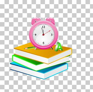 Alarm Clock Book PNG