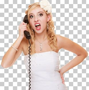 Mobile Phones Telephone Couple Screaming Woman PNG