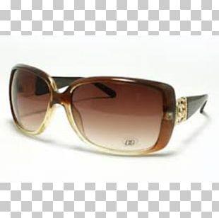 Sunglasses Goggles Brown Caramel Color PNG