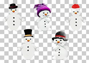 Winter Collection Of Snowmen PNG