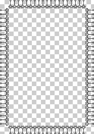 Hand Painted Black Border PNG