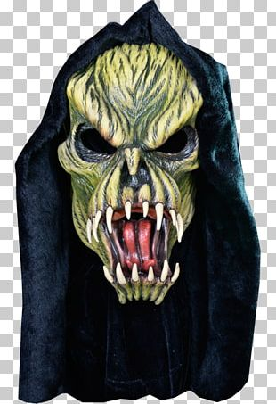 The Haunted Mask Fang Face Halloween Mask Halloween Costume PNG
