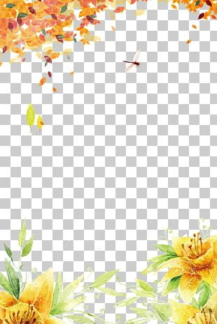 Floral Design Yellow Pattern PNG