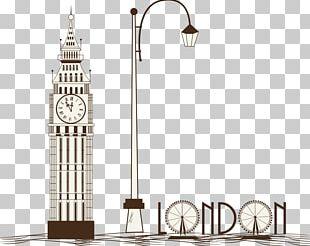 Big Ben London Eye Tower Bridge Illustration PNG