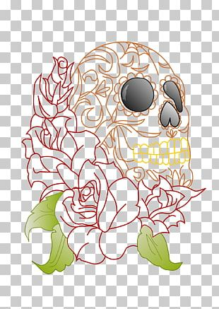 Skull rose. Png images clipart free