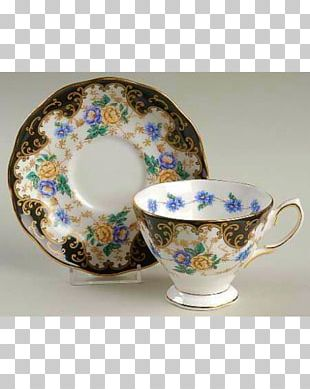 Coffee Cup Saucer Plate Teacup ロイヤルアルバート PNG