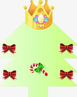 Crown Green Christmas Tree PNG