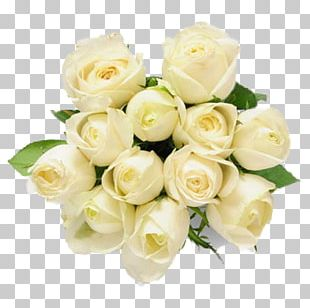 Flower Bouquet Rose White Gift PNG