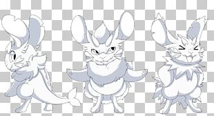 Hare Line Art Cartoon Animal Sketch PNG