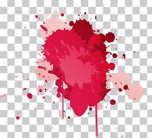 Paper Watercolor Painting Red Ink PNG