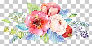 Wedding Invitation Flower Watercolor Painting Floral Design PNG