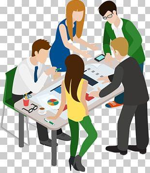 Meeting Cartoon Businessperson PNG