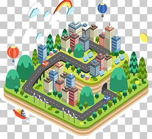 3D Computer Graphics Isometric Projection Illustration PNG