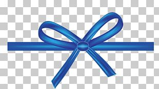 Shoelace Knot Blue Ribbon Bow Tie PNG
