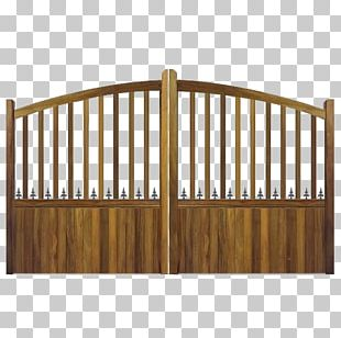 Bench Picket Fence Table Garden Furniture PNG