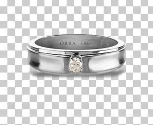 Silver Wedding Ring Diamond PNG