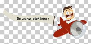 Airplane Web Banner Illustration PNG