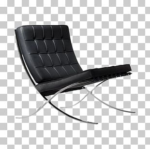 Barcelona Chair Eames Lounge Chair Knoll Foot Rests PNG