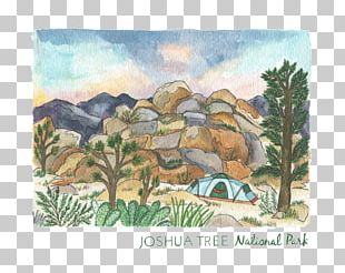 Watercolor Painting Room Joshua Tree National Park PNG