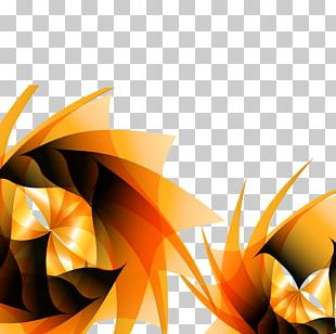 Abstraction Orange PNG