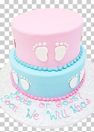 Gender Reveal Birthday Cake Bakery PNG