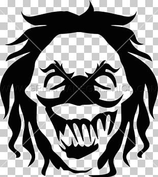 Black And White Visual Arts Evil Clown PNG