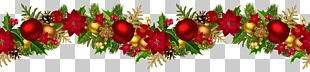 Christmas Decoration Ornament Garland PNG