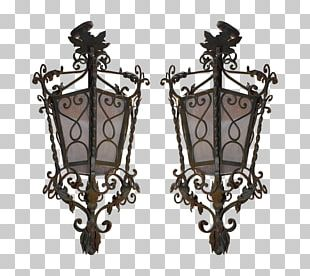 Iron Lantern Light Oil Lamp Candle PNG