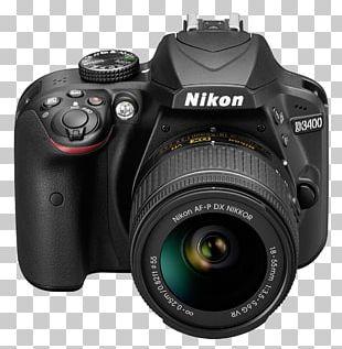 Nikon D3400 Digital SLR Nikon AF-P DX Nikkor Zoom 18-55mm F/3.5-5.6G VR Nikon AF-S DX Zoom-Nikkor 18-55mm F/3.5-5.6G PNG
