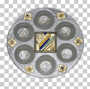 Passover Seder Plate Glass Gold PNG