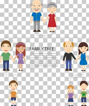 Extended Family Genealogy Book Cartoon PNG