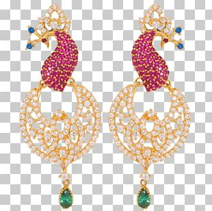 Earring Lalithaa Jewellery Gemstone Jewelry Design PNG