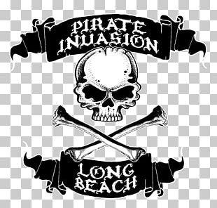 Piracy Jolly Roger Treasure Long Beach Logo PNG