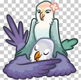 Lovebird Sticker Telegram Parakeet PNG