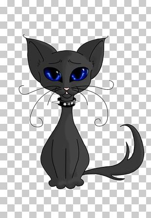 Black Cat Kitten Whiskers Domestic Short-haired Cat PNG