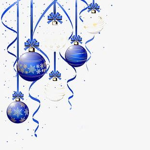 Blue Christmas Ball Ornaments PNG