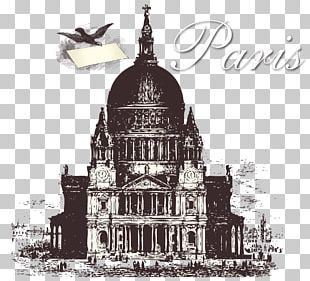 London Paris Postage Stamp PNG