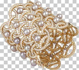 Pearl Jewellery Paris Gold Bracelet PNG
