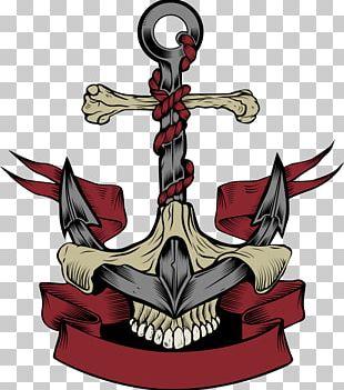 Anchor Calavera Skull Euclidean PNG
